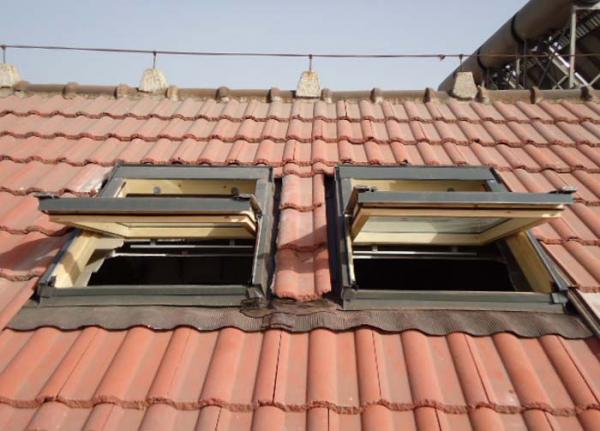 斜屋頂中懸天窗