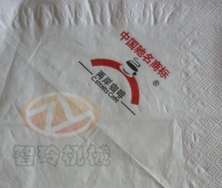 餐巾紙印花壓花2