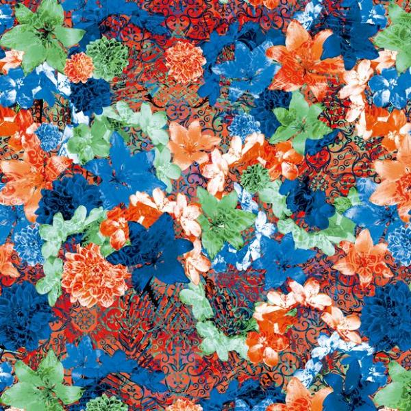 数码印花针织布1