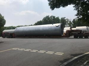 2019年6月承運吸附器設備杭州—內蒙烏海30x4.7x4.7米 重量110噸