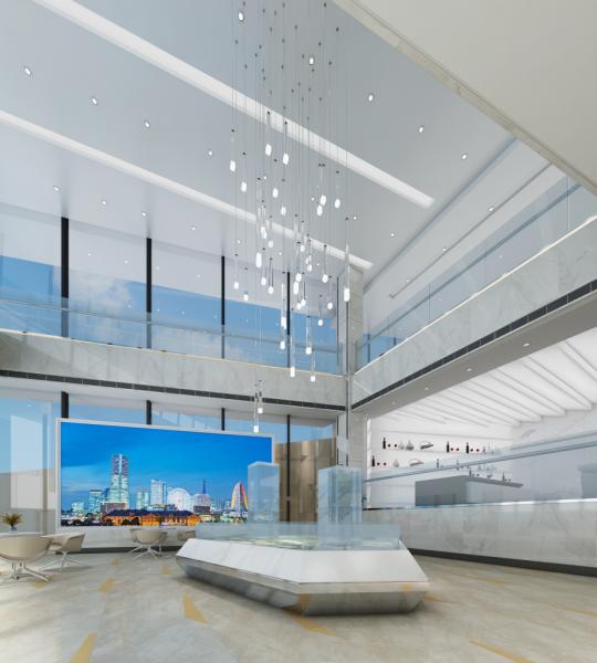 濱江金融城首座售樓部室內裝飾設計