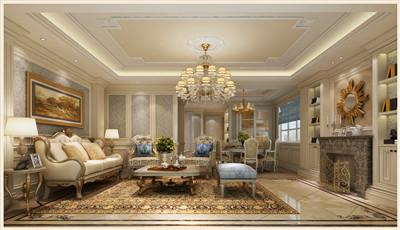 上疊別墅客廳