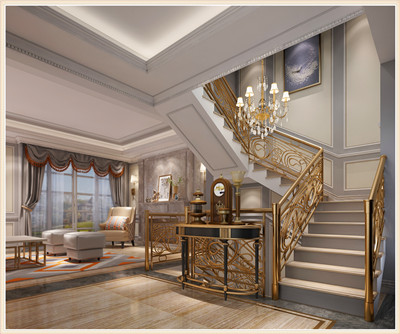 下疊美式樓梯間