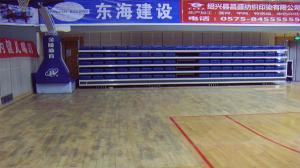 新昌体育馆运动木地板翻新前1