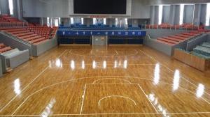 杭州萧山体育中心运动木地板翻新后