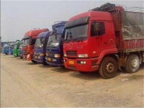 宁波运输公司大型货车展示