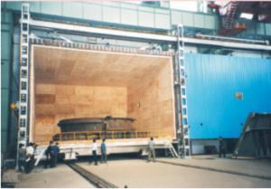 平移炉门、全纤维、微机控制台车式热处理炉