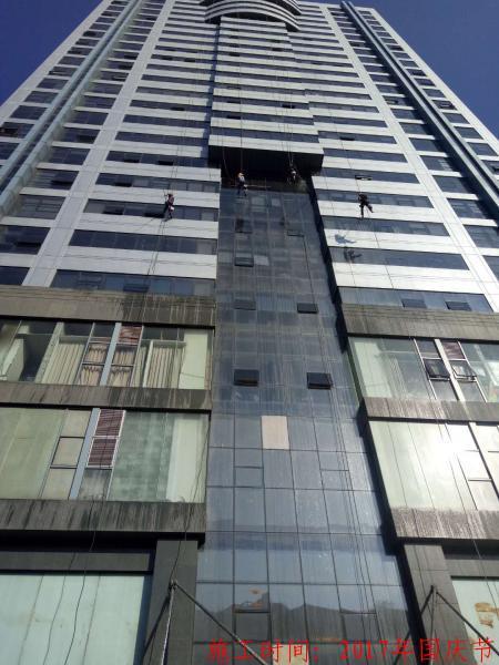 温州发展大厦外墙清洗图片