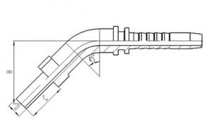 45°DIN标准公制卡套式直管 [50041]