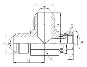 美制JIC螺纹74°锥面密封过渡接头 [CJ] (2)