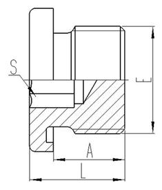 公制外螺纹ED胶垫密封内六角堵头 [4MN-WD]