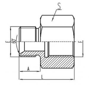 英制外螺纹60°内锥面密封或组合垫密封堵头英制固定内螺纹钢垫密封 [5B]