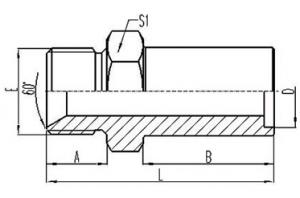 英制外螺纹60°内锥面密封或组合垫密封插入式焊接管 [2BW]