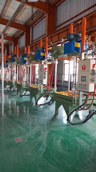 消失模白区成型机生产现场(宁波北野公司)