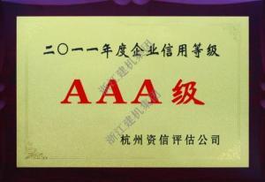 榮獲年度信用等級AAA