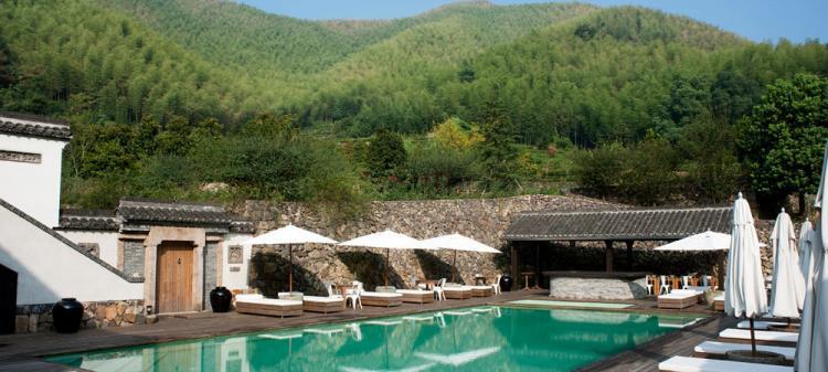 莫干山法國山居室外恆溫游泳池設備工程