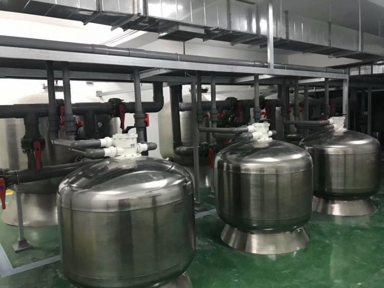 杭州丁兰体育中心新增泳池过滤设备