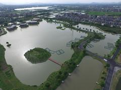 三白潭园区局部航拍图