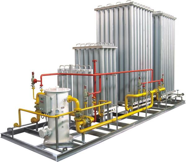 LNG vaporization skid-mounted