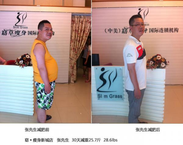 Zhang lose weight before and after